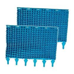 Brosse Lamelles Bleu par 2